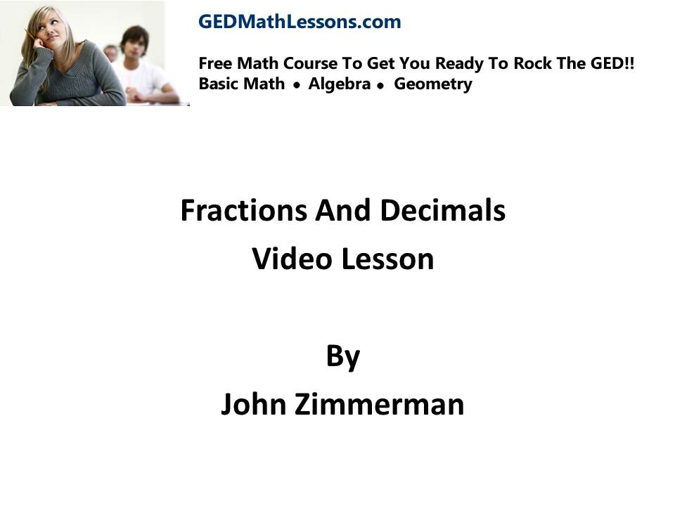 FREE GED Math Course Get Started Now! - GED Math Lessons