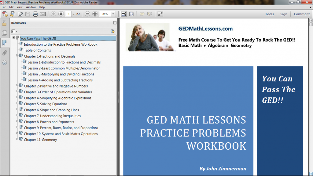 Free GED Math Notes - GED Math Lessons